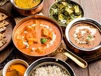 Plato principal indio para almuerzo / cena