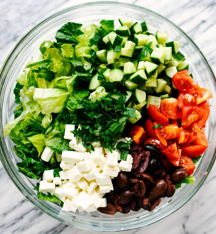 Salada grega quebra-cabeça