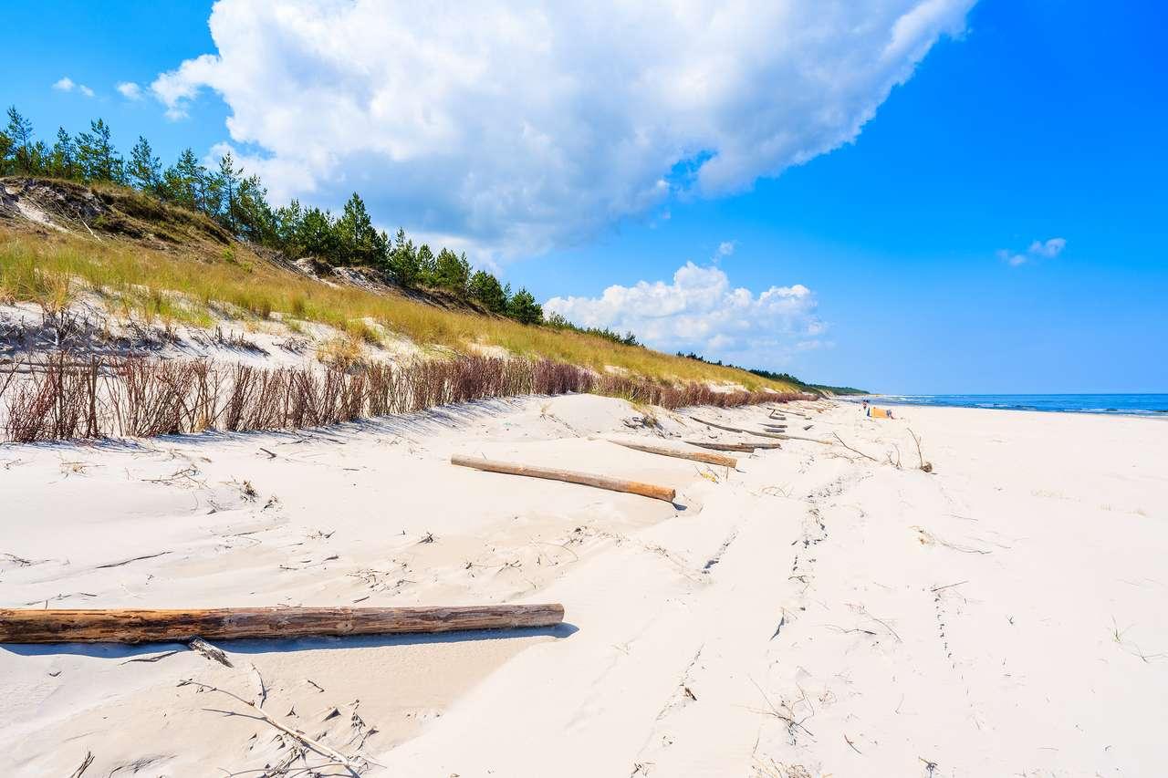 Pobřeží Baltského moře v Polsku skládačka