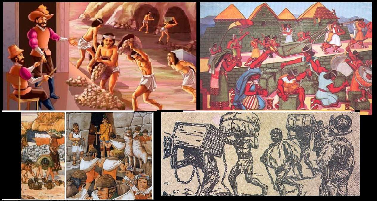 COMPARISON OF INCA AND SPANISH MITA jigsaw puzzle
