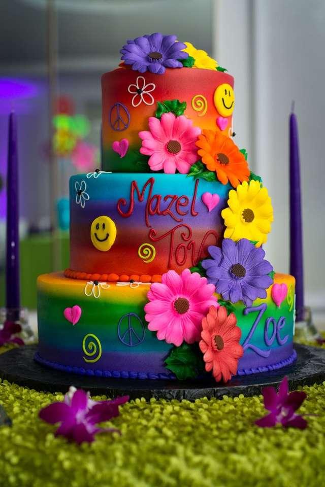 tort urodzinowy puzzle