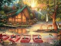 Barche ormeggiate a riva