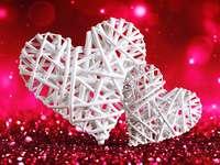 Grafik- hjärtan online puzzle