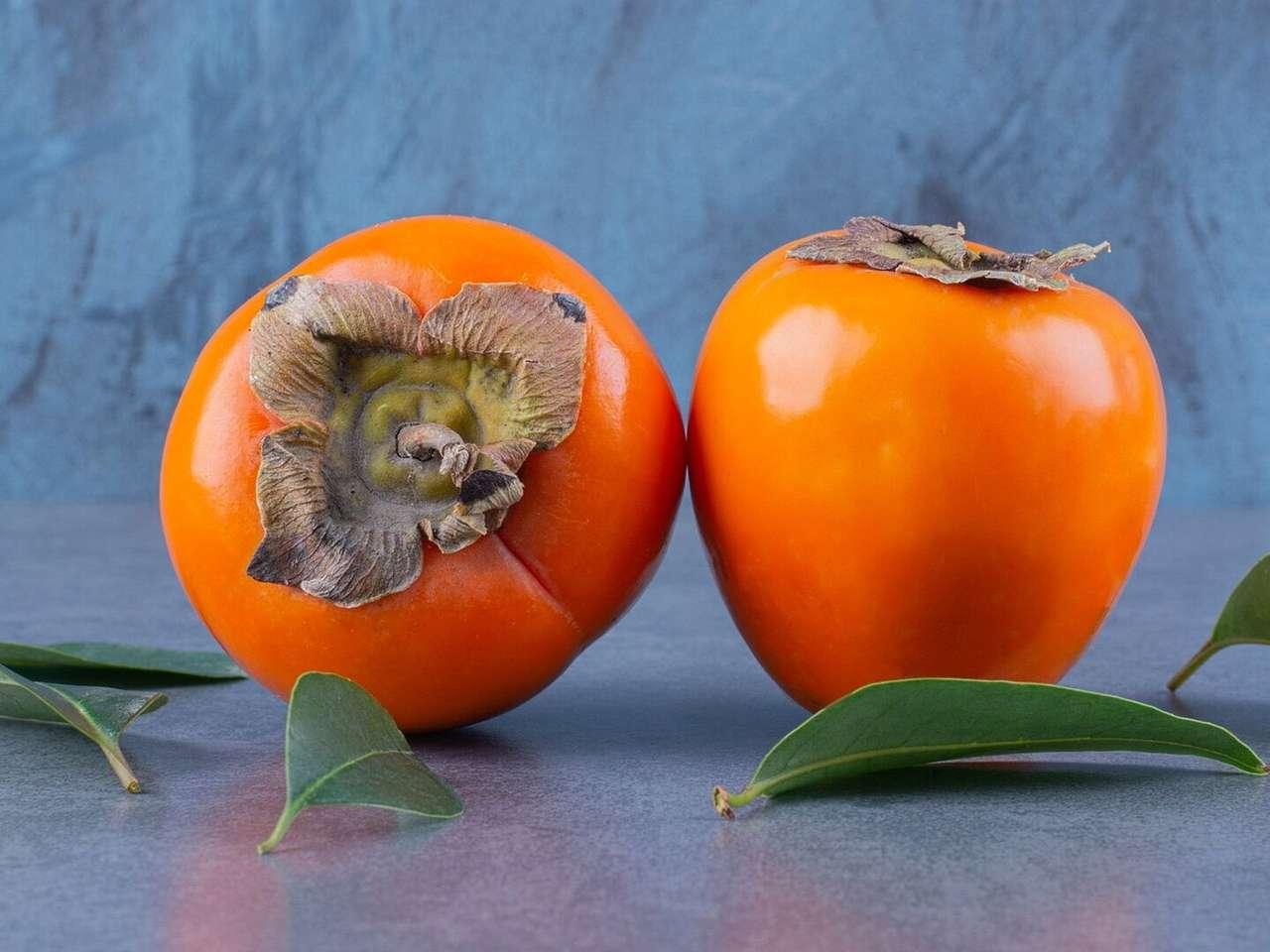 Fruta kaki rompecabezas en línea