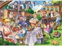 Stile di festa puzzle