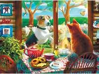 Hund und Katze puzzle