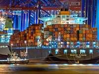 Cargo nel porto di Amburgo online puzzle