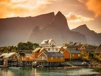Vågan, Norway online puzzle