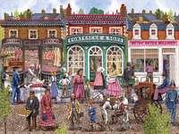 Victorian Street på sommaren online puzzle