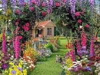 In einem schönen Garten. Online-Puzzle