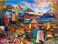 camping. jigsaw puzzle