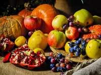 podzimní ovoce skládačka